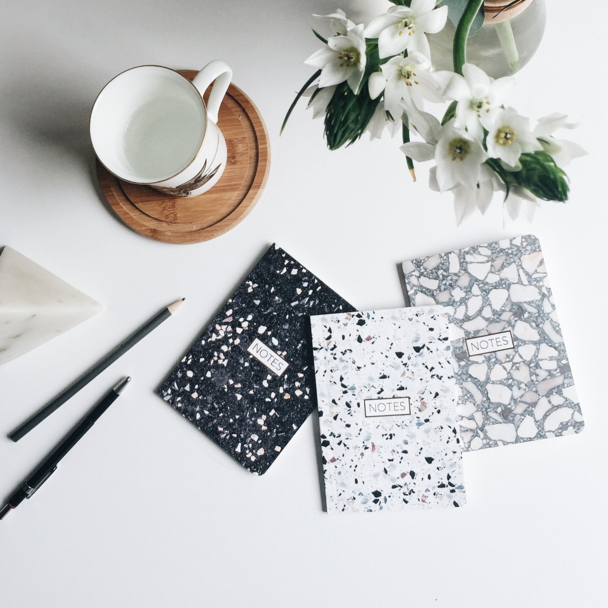 Terrazzo notebooks from Form Maker