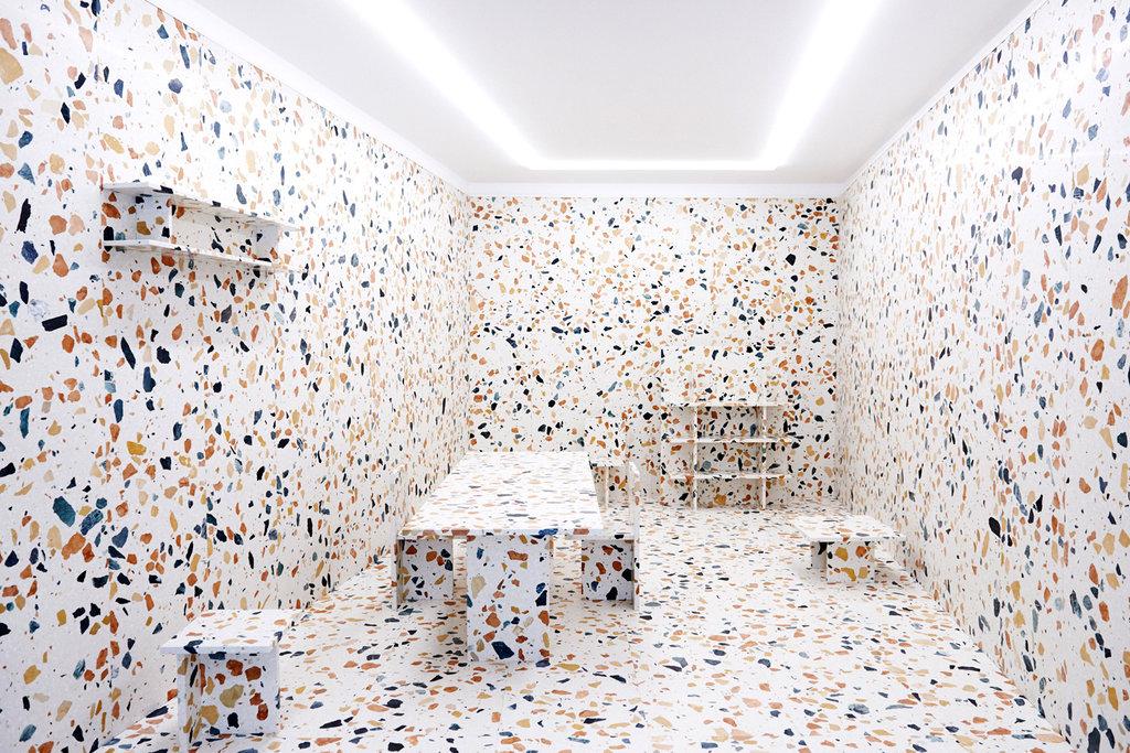 Terrazzo room by Max Lamb Terrazzo Patterns in Modern Design