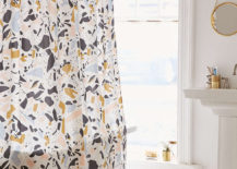 Terrazzo shower curtain from Urban Outfitters 217x155 Terrazzo Patterns in Modern Design