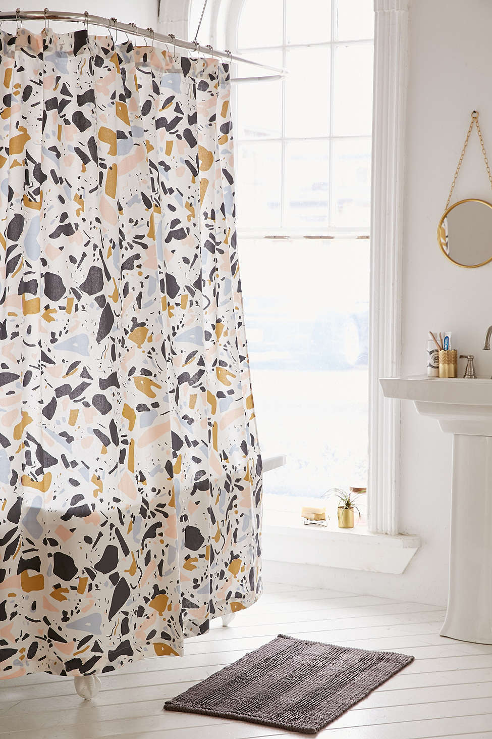 Terrazzo shower curtain from Urban Outfitters