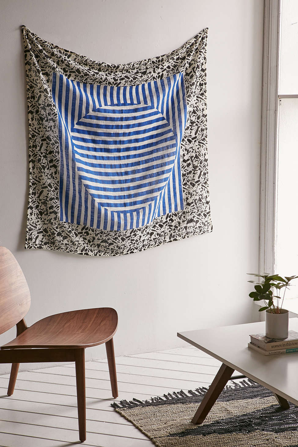Terrazzo tapestry with stripes from Urban Outfitters