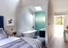 Top level master suite where the bathroom becomes a part of the bedroom!