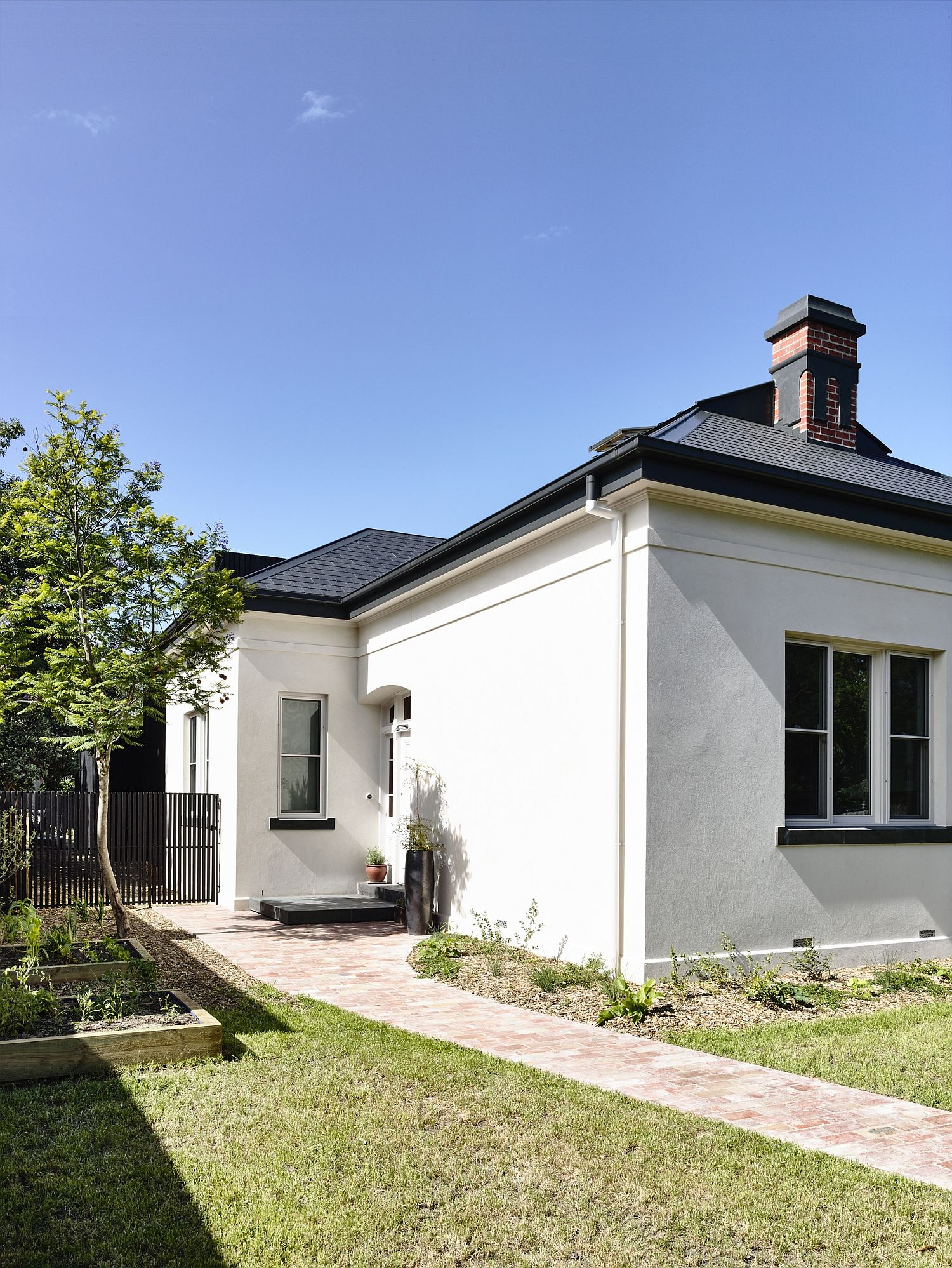 Traditional exterior of the old Victorian home