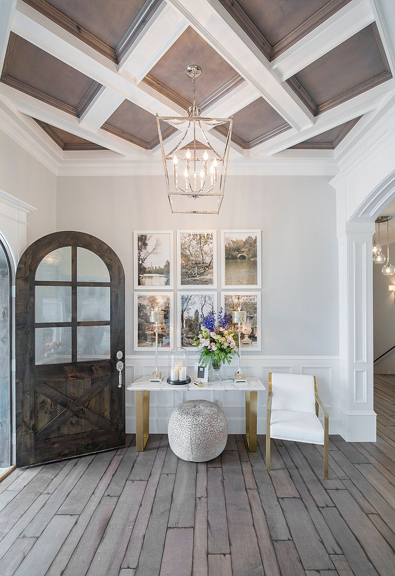 Transitional entry with a lovely little picture wall [From: Chelsea Kasch / Nick Bayless Photography]