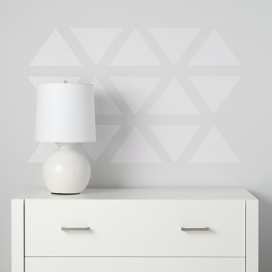 Triangle decals in white from The Land of Nod