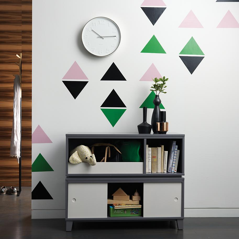 Triangle wall decals from The Land of Nod