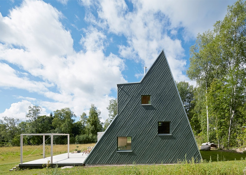 Triangular summer house gable end