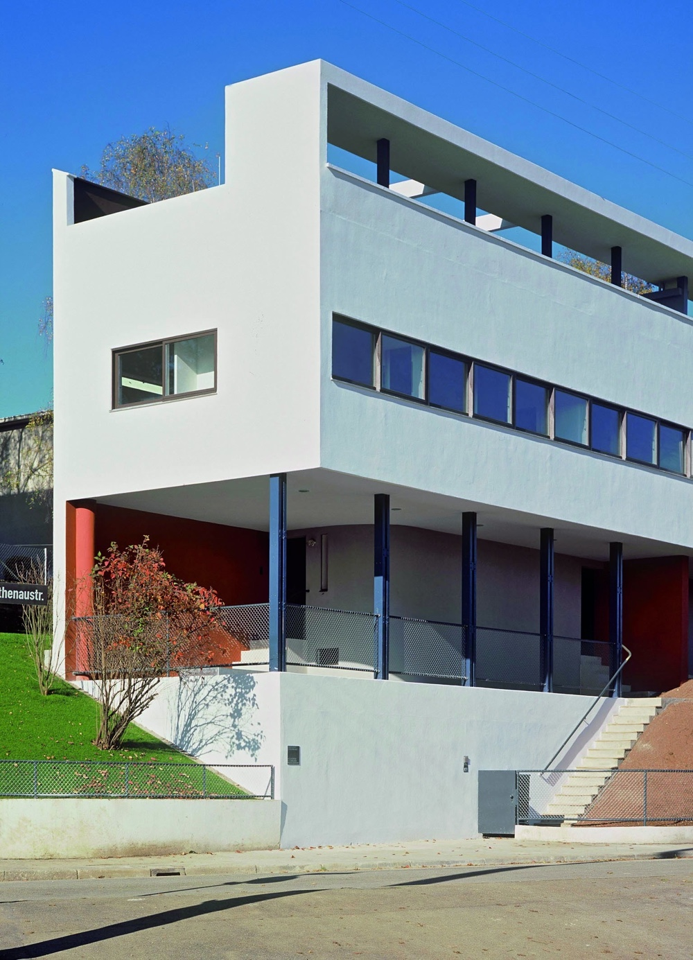 Twinhouses at Weissenhof Estate, Stuttgart, Germany, 1927. Photo byThomas Wolf©FLC/ADAGP.