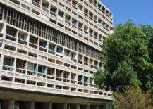 Detail east facade, UH, Marseille