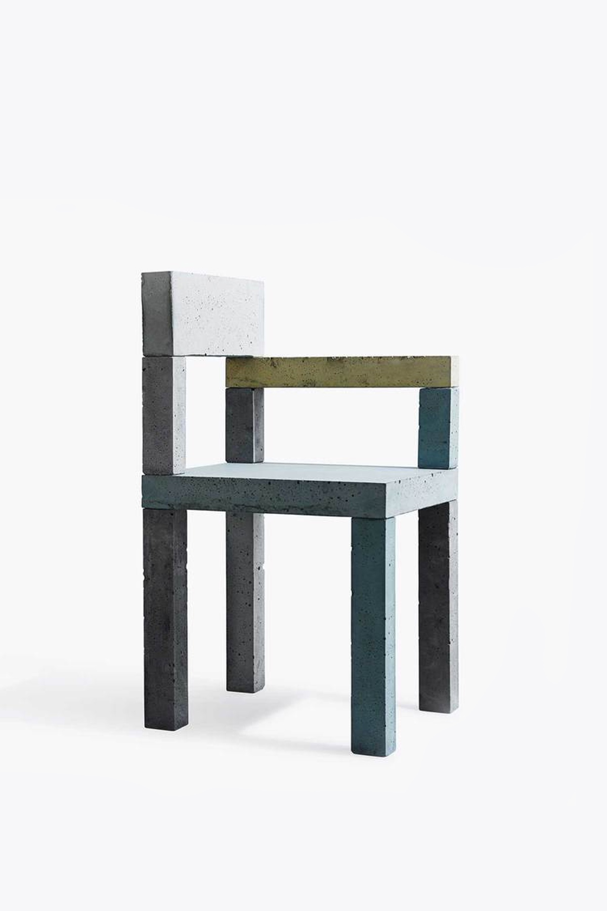 Untitled (Concrete Chair) designed by artist Magnus Pettersen. Meshing art with design, this chair's concrete utilitarian aspect is cleverly expressed.