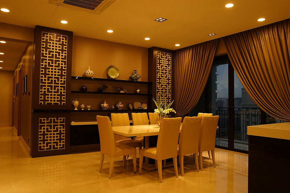 Serene and practical 40 asian style dining rooms for Dining room designs india