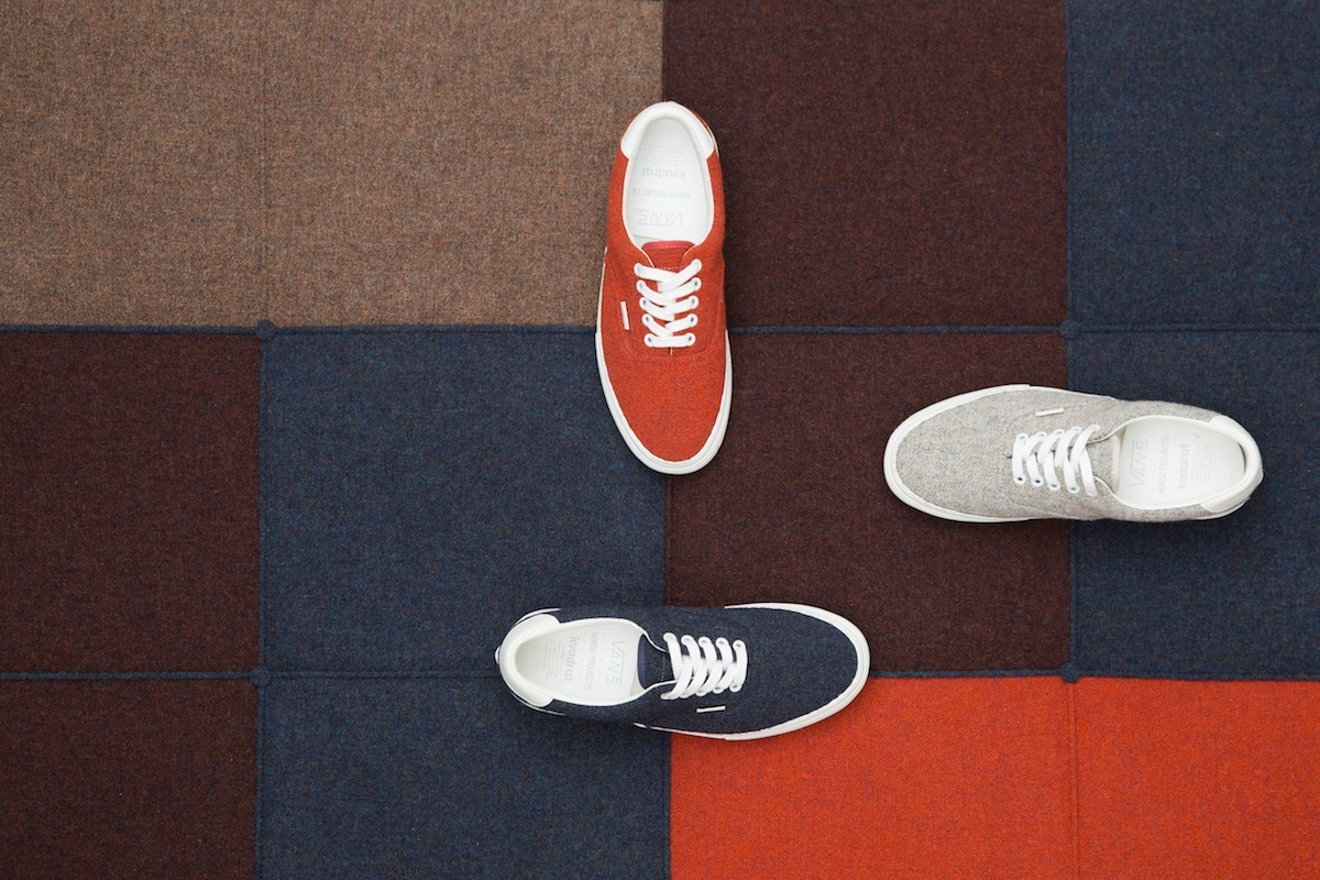 Vans Era and Chukka skateboard shoe models. Image courtesy of Norse Projects.