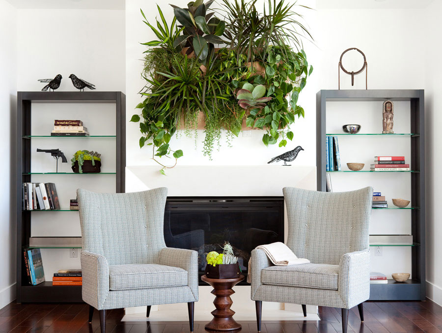 Vertical garden for over the fireplace