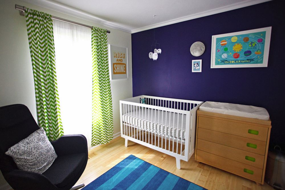 Vibrant accent wall idea Creative Ideas for Your Nursery Accent Wall