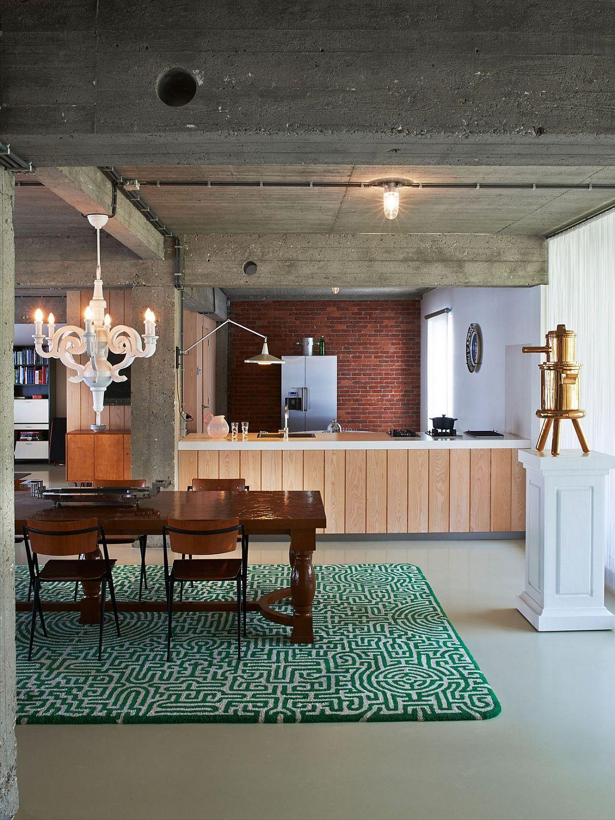 Vintage elements and industrial flair meet inside fun Antwerp loft
