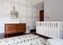 Wall treatment in a modern nursery