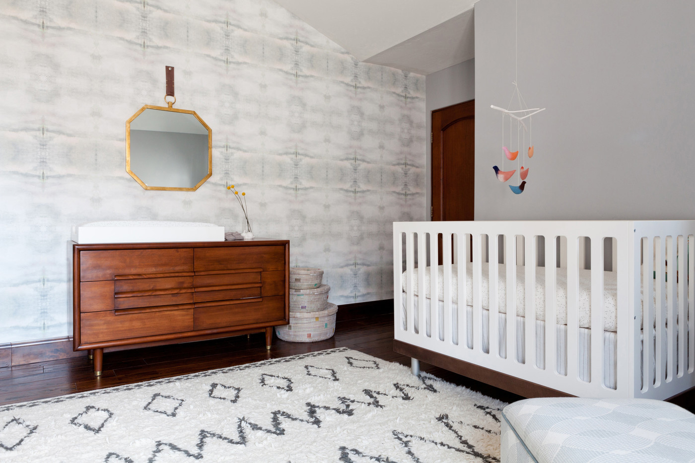 Wall treatment in a modern nursery