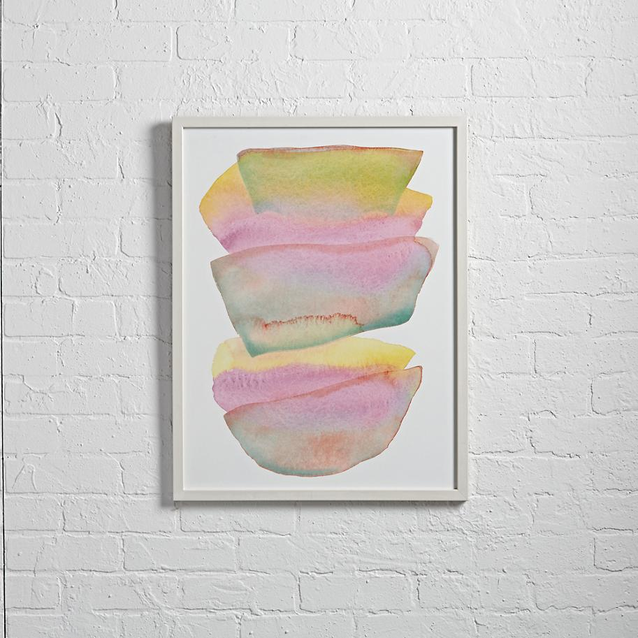 Watercolor wall art from The Land of Nod