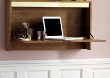 Wood and brass desk from CB2