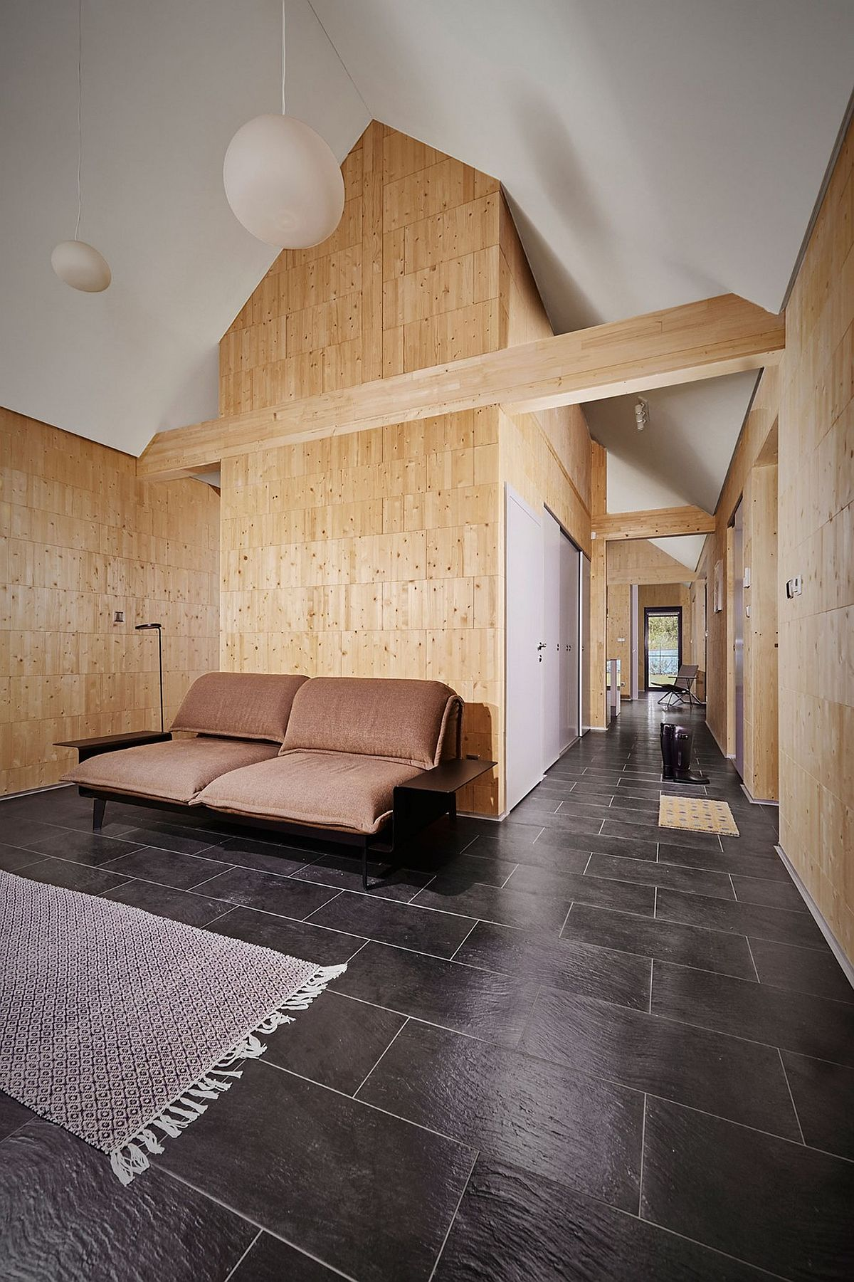 Steko wooden blocks create a cozy home in scenic slovakian - Brick and wood house ...