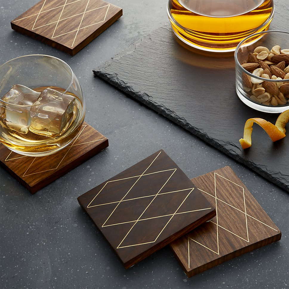 Wooden coasters from Crate & Barrel