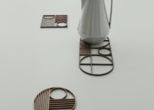 Wooden trivets from ferm LIVING 217x155 Chic Design Ideas for a Grey Kitchen