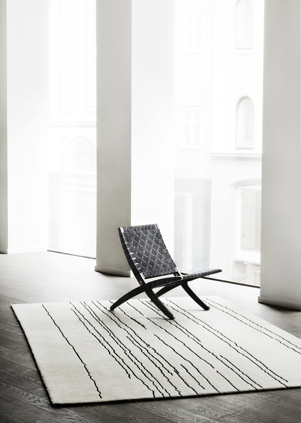 Woodlines rug designed by artist Naja Utzon Popov for Carl Hansen & Søn. Image courtesy of Carl Hansen & Søn.