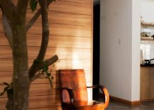 Zen-like meditative nook with indoor plant