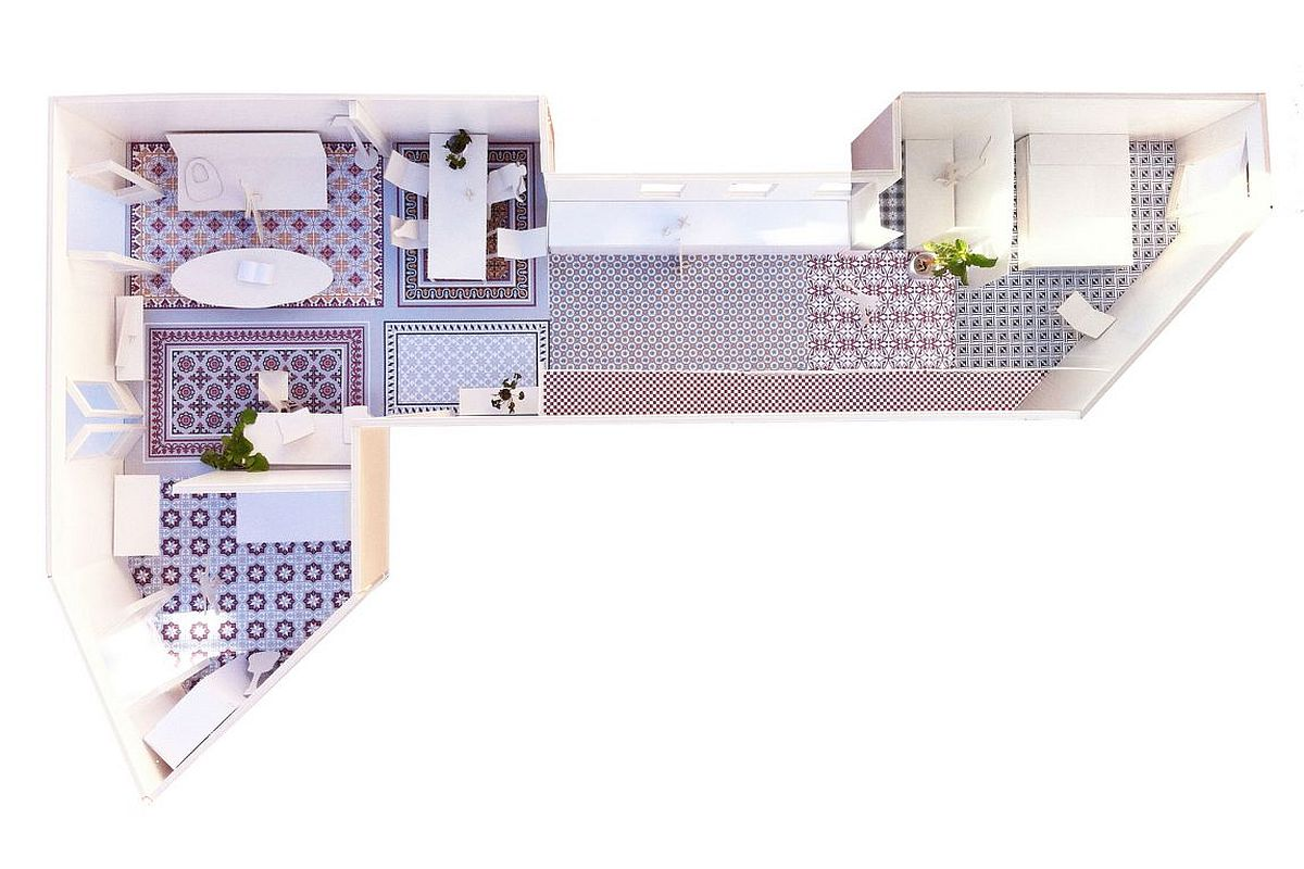 A look at the model of the renovated home in Eixample, Barcelona