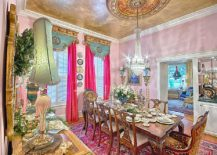 Gold And Purple Is The Perfect Color Duo For Regal Victorian Dining Room Design Tumanova Ludmila