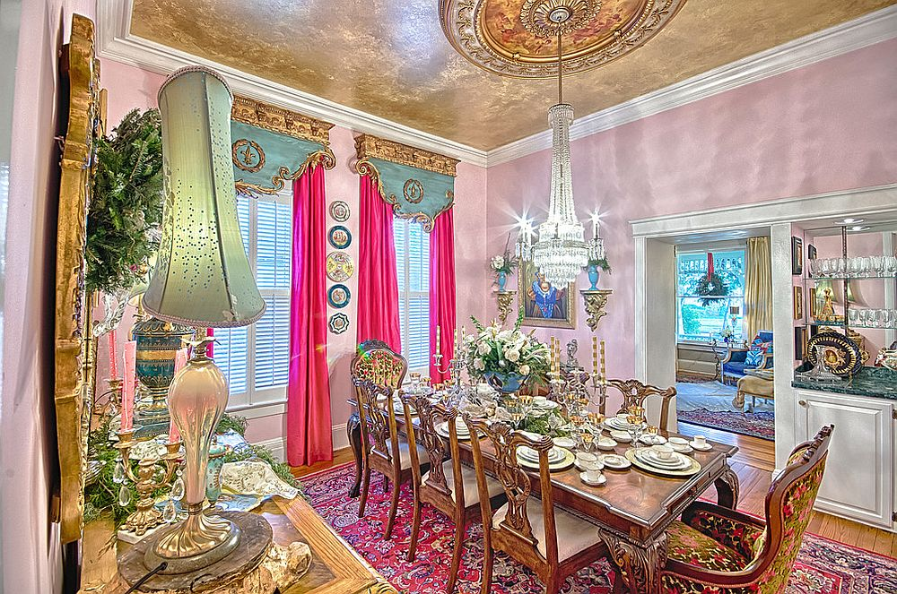 Absolutely stunning Victorian dining room! [From: Old River Antiques & Interiors]