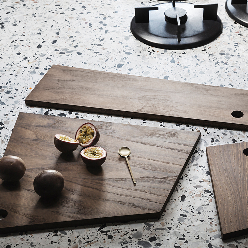 Asymmetric cutting boards from ferm LIVING