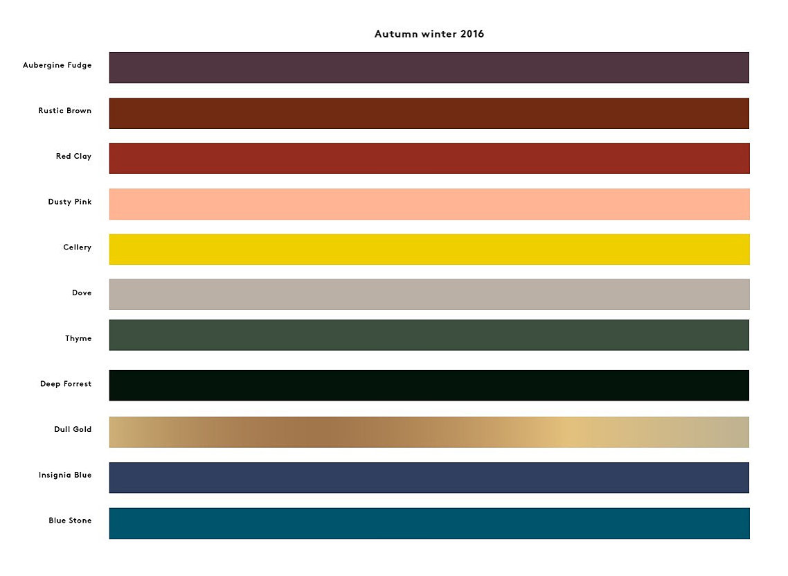 Autumn color palette from Broste Copenhagen