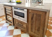 Bespoke kitchen island crafted from reclaimed wood
