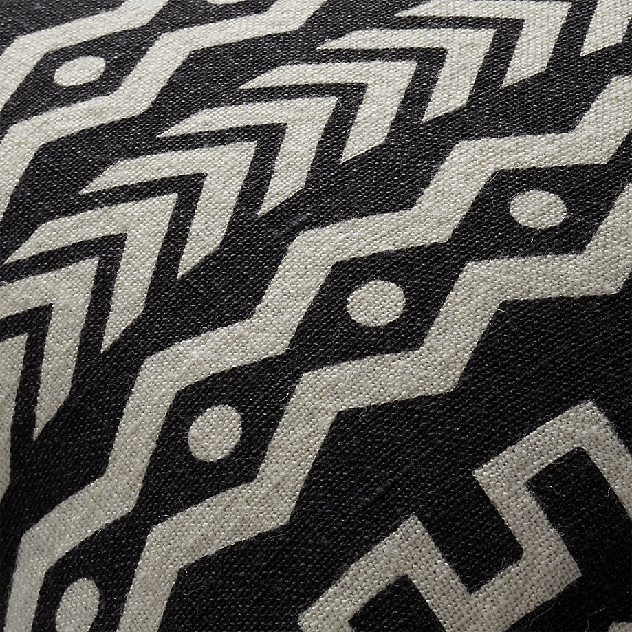 Black and white mud cloth pillow from CB2