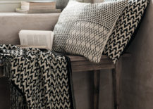 Black and white textiles from H&M Home