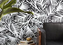 Black and white wallpaper from CB2