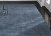Blue wool rug from Crate & Barrel