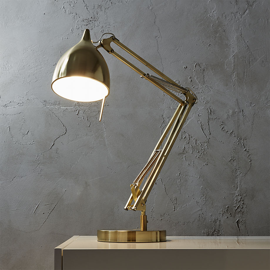 Brass task lamp from CB2