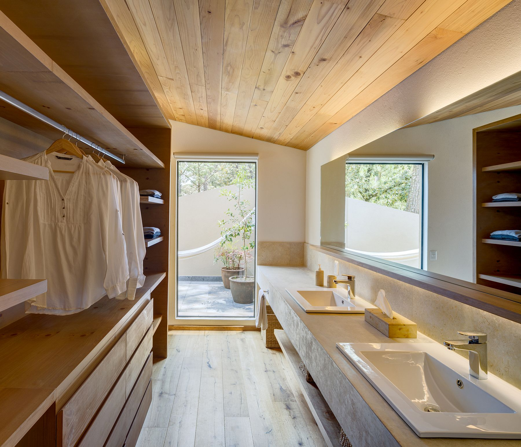 Breezy bathroom and wardrobe design
