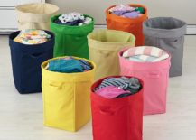 Canvas hampers from The Land of Nod