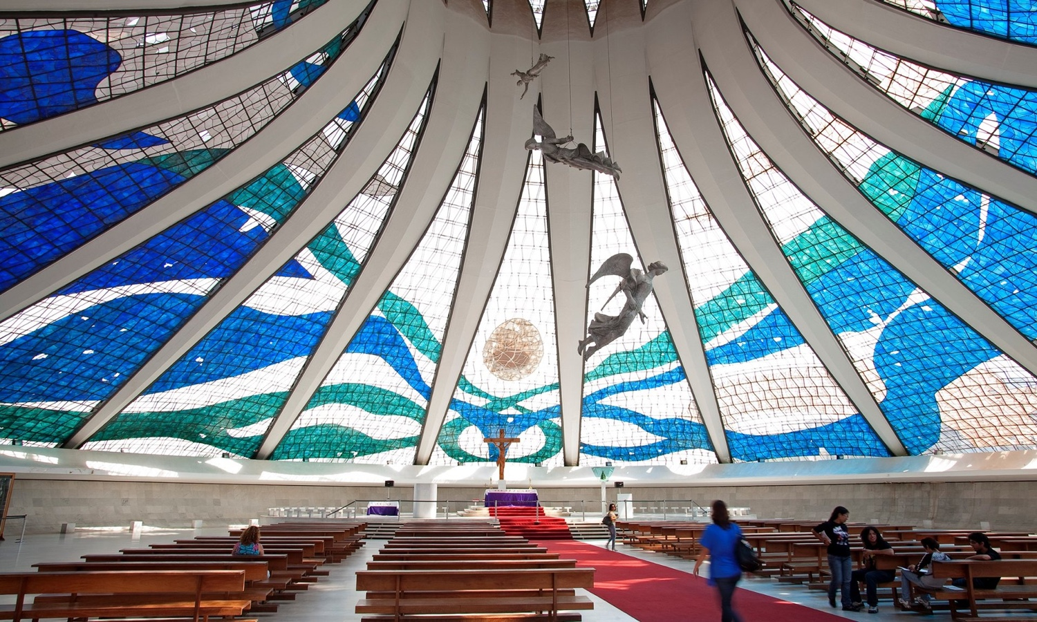 Catedral de Brasília interior. Photo © 2016 Guardian News and Media Limited.