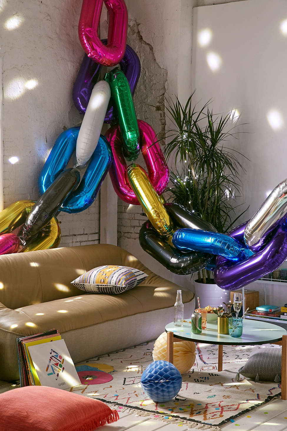 Colorful balloons from Urban Outfitters