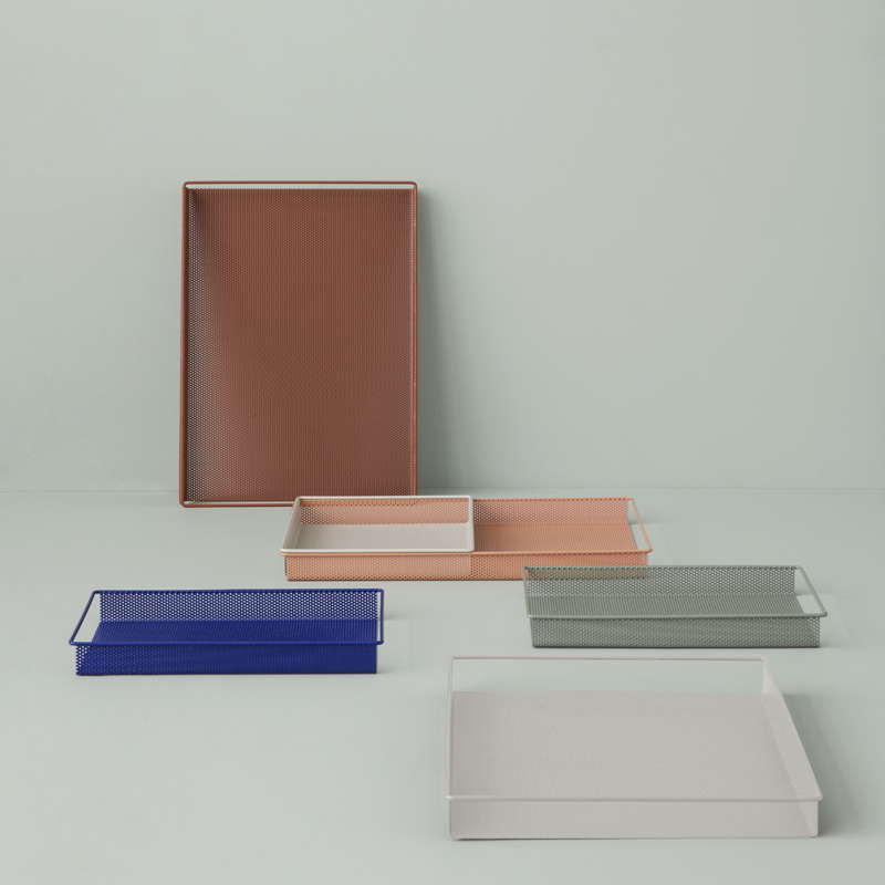 Colorful metal trays from ferm LIVING