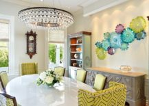 Contemporary dining room with a tropical touch