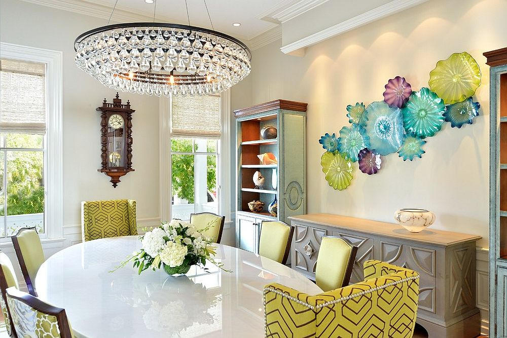 Contemporary dining room with a tropical touch [Design: Bender & Associates Architects]