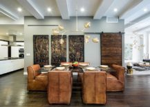 Contemporary-dining-space-of-New-York-home-is-filled-with-varied-textures-and-finishes-217x155