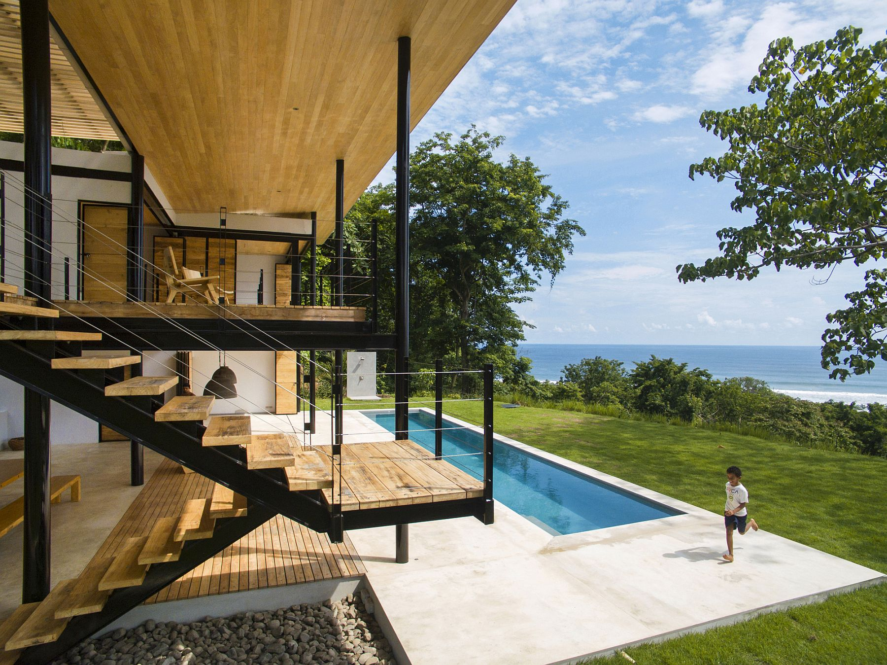 Contemporary family home in Costa Rica with ocean views