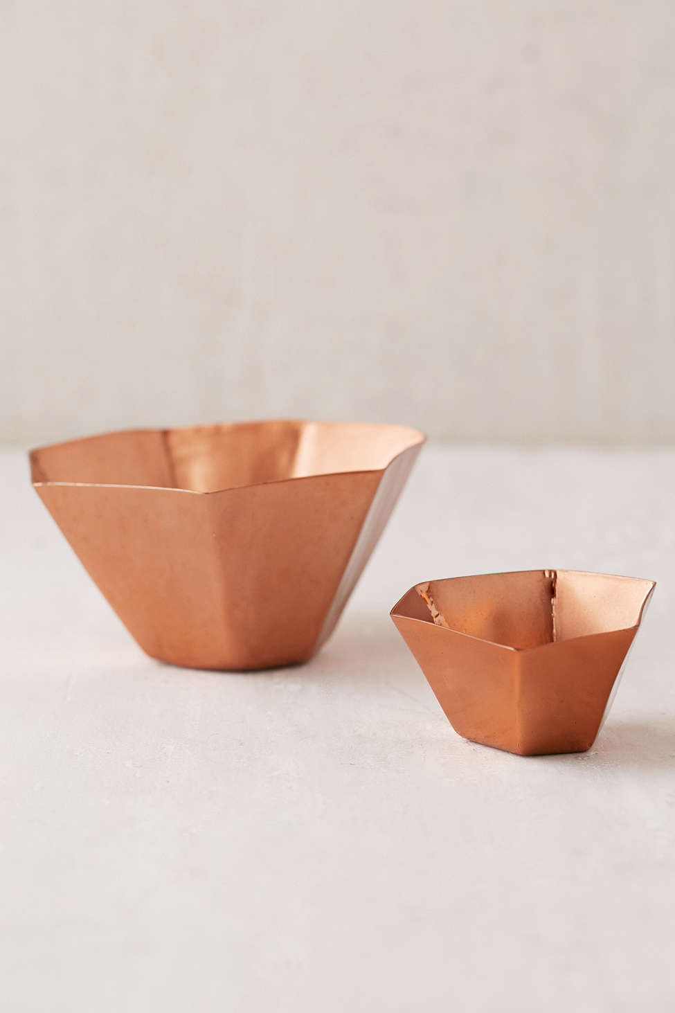 Copper hexagon dishes from Urban Outfitters