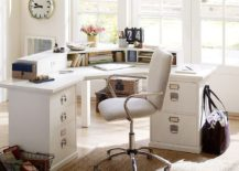 Create a gorgeous home office in white with decor from Pottery Barn 217x155 Monochromatic Magic: 20 Ways to Decorate the Home Office in White